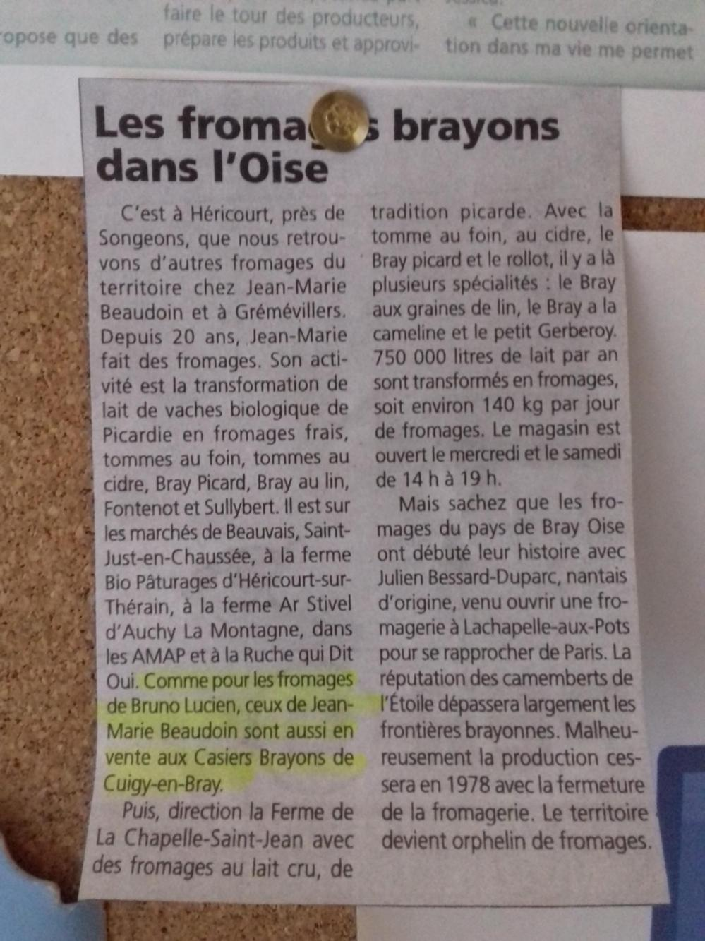 Fromages brayons dans l oise 1
